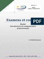 Examen et corrigés LC S2