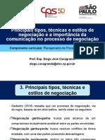 Aula 3 - Principais tipos, técnicas e estilos de negociação e a importância da comunicação no processo de negociação