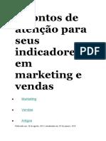 5 pontos de atenção para seus indicadores em marketing e vendas
