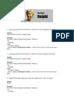 Comandos e funções Delphi