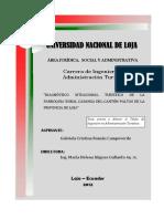 Tesis Diagnostico Situasional Turistico de La Parroquia Rural Casanga