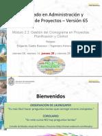 DAP 65 01-2021 M2.2 Gestión del Cronograma - EGB vf