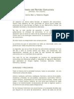 Manifiesto Del Partido Comunista Carlos Marx y Federico Engels