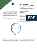 Promoterless pmTFP-1