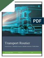 Transport routier ( Rapport)