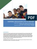 Hispanic Education Status Report Narrative Only 3.11
