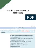 Cours Dinitiation a La Recherche Recherc