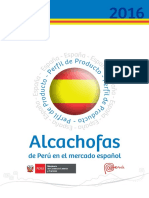 ALCACHOFA de Perú en el mercado español