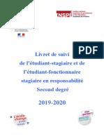 Livret de l'éTudiant-stagiaire & éTudiant-fonctionnaire-stagiaire (2019-2020)