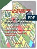 Proyecto de Habilitacion Urbana