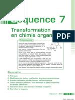 Transformation chimie organique