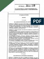 Ley 1409 Del 30 de Agosto de 2010