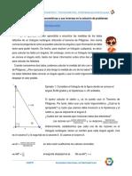 USO DE LAS RAZONES TRIGONOMETRICAS EN LA SOLUCION DE PROBLEMAS