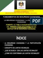 SESION 6    LA SEGURIDAD CIUDADANA Y LA PARTICIPACION CIUDADANA