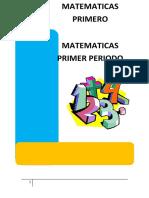 Modulo de Matematicas 1 Periodo