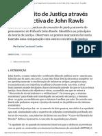 Um conceito de Justiça através da perspectiva de John Rawls (Civil) - Artigo jurídico - DireitoNet
