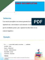 ORACIONES INCOMPLETAS Y CONECTORES LOGICOS _ GUSTAVO
