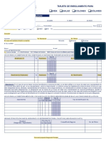 Formulario Tarjeta de  Enrolamiento - Rellenable - copia