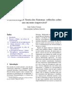 Atitude Naturalizada Fenomenologia e Teoria Dos Sistemas Atitu