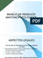 MANEJO DE RESIDUOS ANATOMOPATOLOGICOS