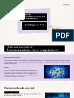 Redes de Telecomunciaconesdatos Informatica - Topologias de Red - Maria Juliana Leòn Vargas 11-A