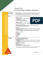 Adhesivo Epóxico Anclajes SIKA Anchorfix-3+