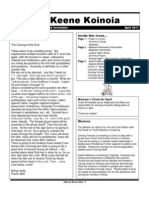 Church Newsletter- April 2011