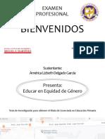 Presentación de la Tesis, Examen Profesional