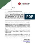 DEMANDA FREDY ALZATE VS RG DISTRIBUCIONES, REINTEGRO FUERO DE SALUD, REAJ DE PREST