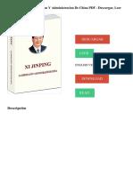 Xi Jingpin_ La Gobernacion Y Administracion De China PDF - Descargar, Leer DESCARGAR LEER ENGLISH VERSION DOWNLOAD READ.