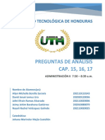 Preguntas De Análisis Cap. 15, 16, 17 - Grupo No. 8
