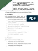 REGLAMENTO PARA EL    MANEJO DE    APORTES