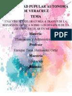 UNA VISIÓN EXPLORATORIA A TRAVÉS DE LA REFLEXIÓN CRÍTICA SOBRE LOS DESAFÍOS DE LA GESTIÓN ESCOLAR EN MÉXICO