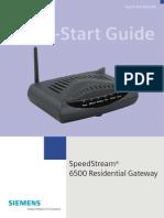 Speadstream 6250 Quick Start Guide