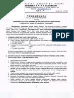 Pengumuman Pendaftaran Casn Kab Kediri 2021