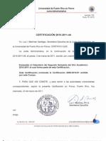 Certificacion 2010-2011-44 Enmienda rio Segundo Semestre 2010-2011