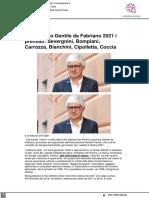 Premio Gentile da Fabriano 2021