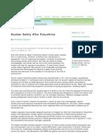 Nuclear safety After Fukushima