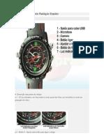 Manual em portugues de Uso do Relógio Espião