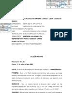 resolucion de autoadmisorio 123