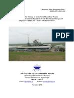 Guideline for storage of incinerable HW
