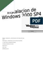 Pasos para la instalación de Windows 2000 Professiona1