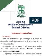 17-AULA DE ANALISE COMBINATORIA