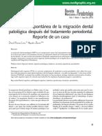 Corrección espontánea diastema (RMP Porras ZERON 2010)