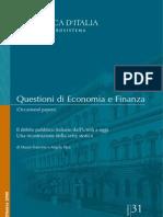 Il debito pubblico italiano dall'Unità a oggi. Una ricostruzione della serie storica