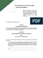 Substitutivo ao Projeto de Lei no 2.337, de 2021
