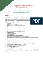M1 Et M2 Biochimie-microbiologie