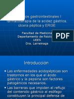 Fármacos gastrointestinales I farmacoterapia de la acidez gástrica