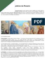 Méditation des Mystères du Rosaire - Église catholique en France