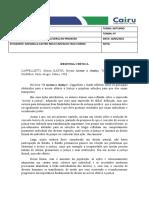 RESENHA CRITICA - ACESSO A JUSTIÇA - RAPHAELLA CASTRO MELO CARVALHO